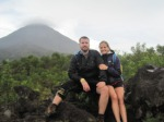 Pat and I on some lava rocks at Arenal National Park