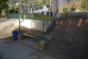 Bus stop in San Pablo de Leon Cortez, Tarrazu, Costa Rica