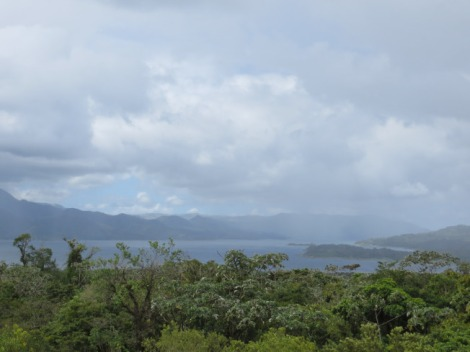 our amazing view of Lake Arenal